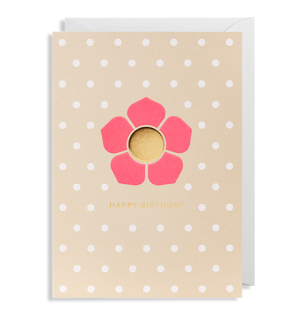 Happy Birthday Flower Greeting Card - Lagom Design