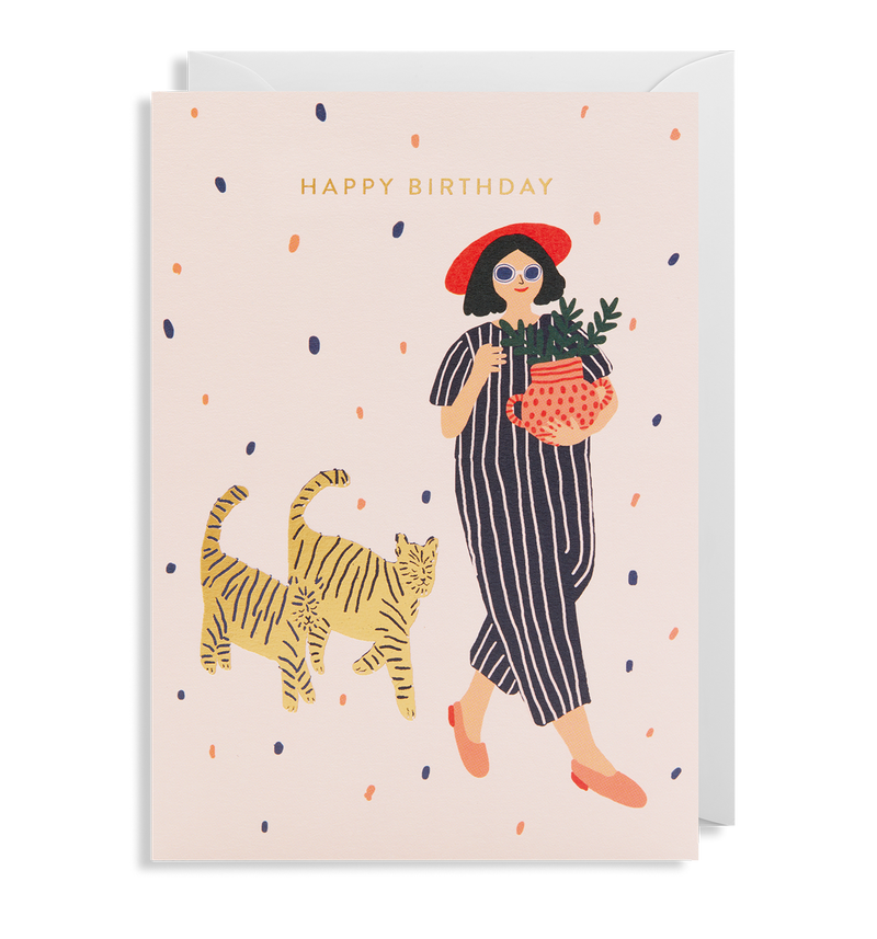 Happy Birthday Cats - Lagom Design