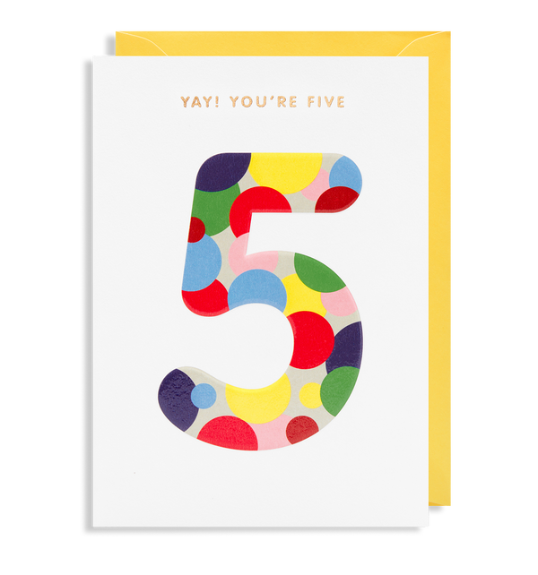 Yay! You're Five - Lagom Design