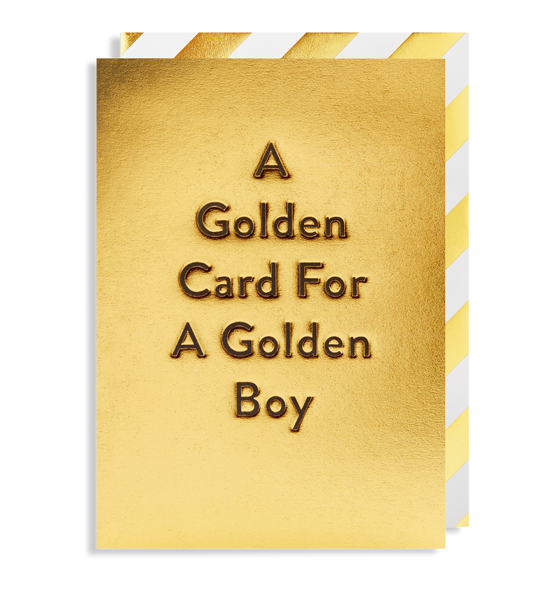 A Golden Card For A Golden Boy - Lagom Design