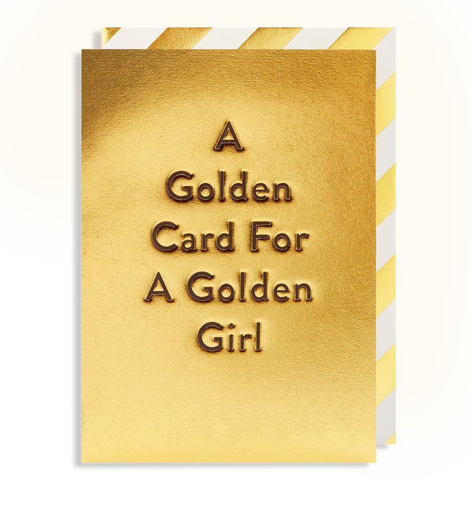 A Golden Card For A Golden Girl - Lagom Design