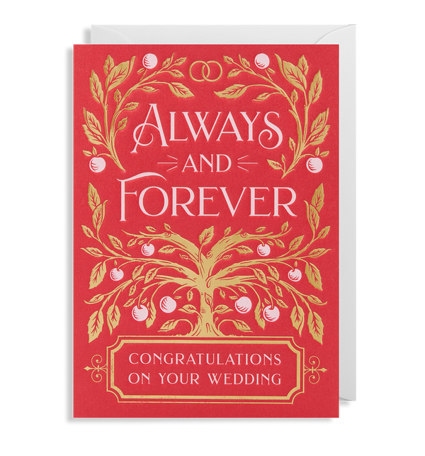 Always and Forever - Congratulations on Your Wedding - Lagom Design
