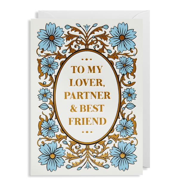 To My Lover Partner & Best Friend - Lagom Design