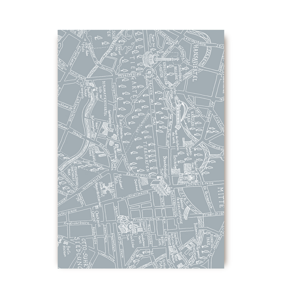 Berlin Map Postcard - Lagom Design