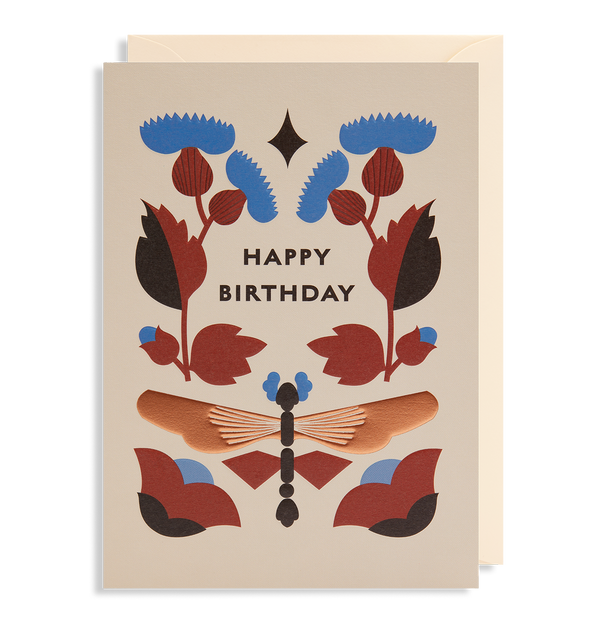 Dragonfly Days Happy Birthday - Lagom Design
