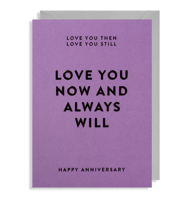 Love You Now And Always Will: Anniversary Card