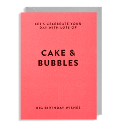 Cake & Bubbles: Birthday Card