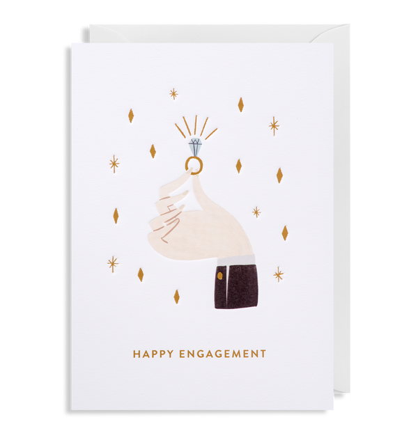 Sparkling Ring: Engagement Card