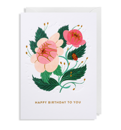 Pink Wildflowers: Birthday Card