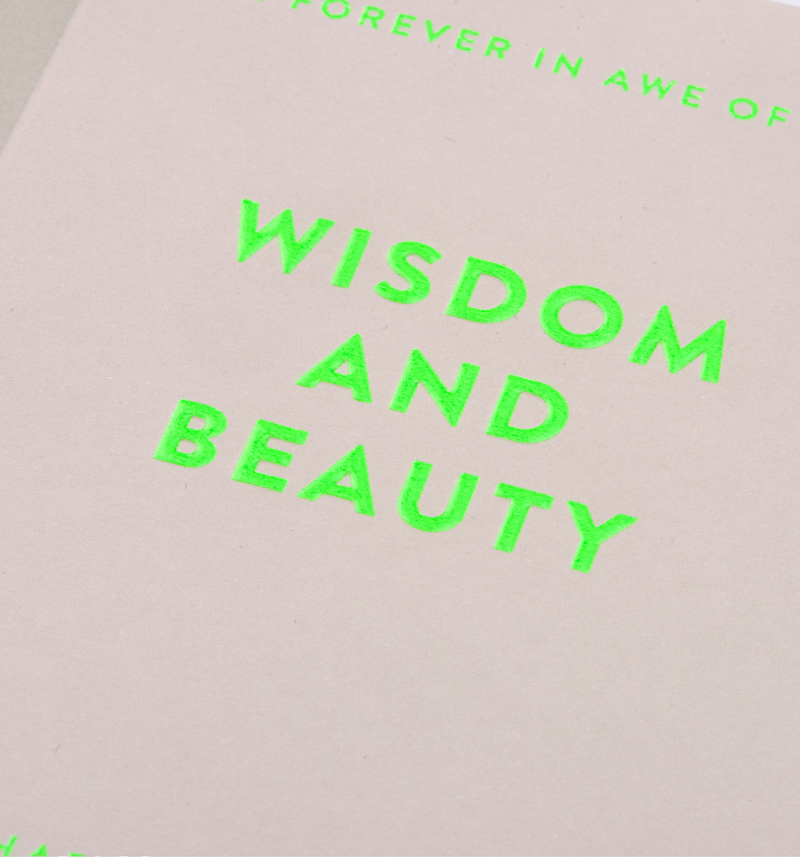 Wisdom And Beauty: Birthday Card