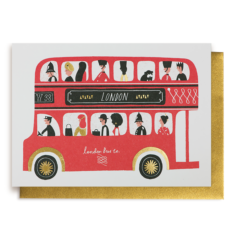 London Bus Card - Lagom Design