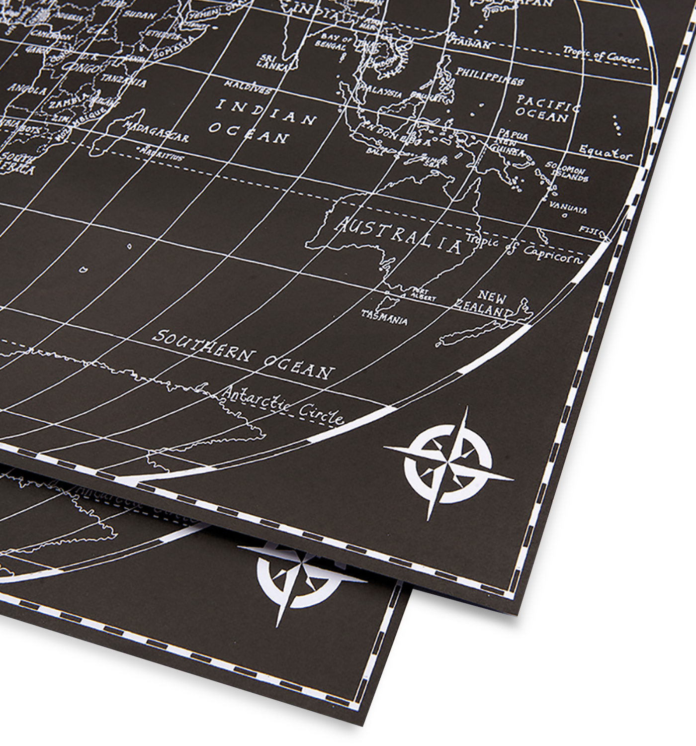 Black world map gift wrap by michael a hill lagom design black world map gift wrap lagom design gumiabroncs Choice Image