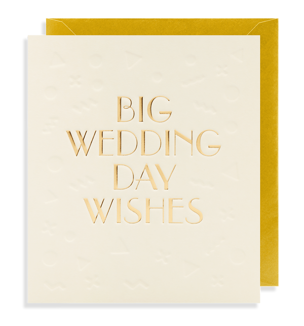 Big Wedding Day Wishes - Lagom Design