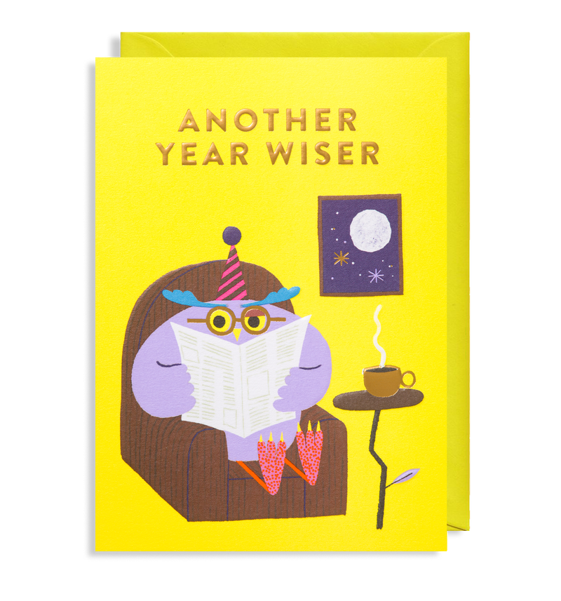 Wise Old Owl: Birthday Card