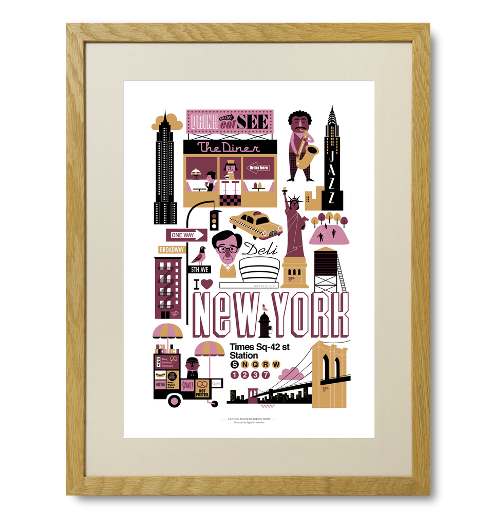 Ingela New York Print - Lagom Design