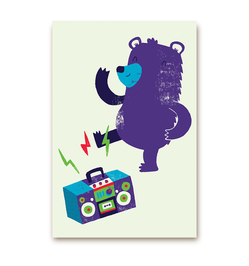Dancing Bear Postcard - Lagom Design