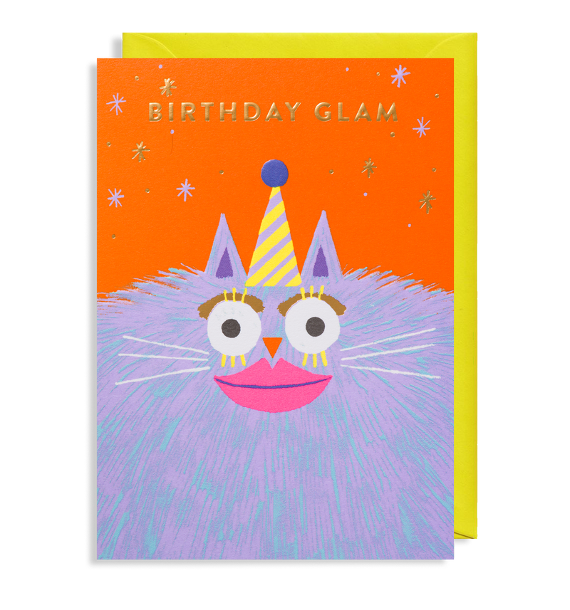 Glamour Puss: Birthday Card