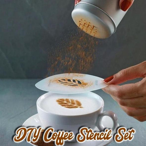 DIY Coffee Stencil Set (16 Pcs)