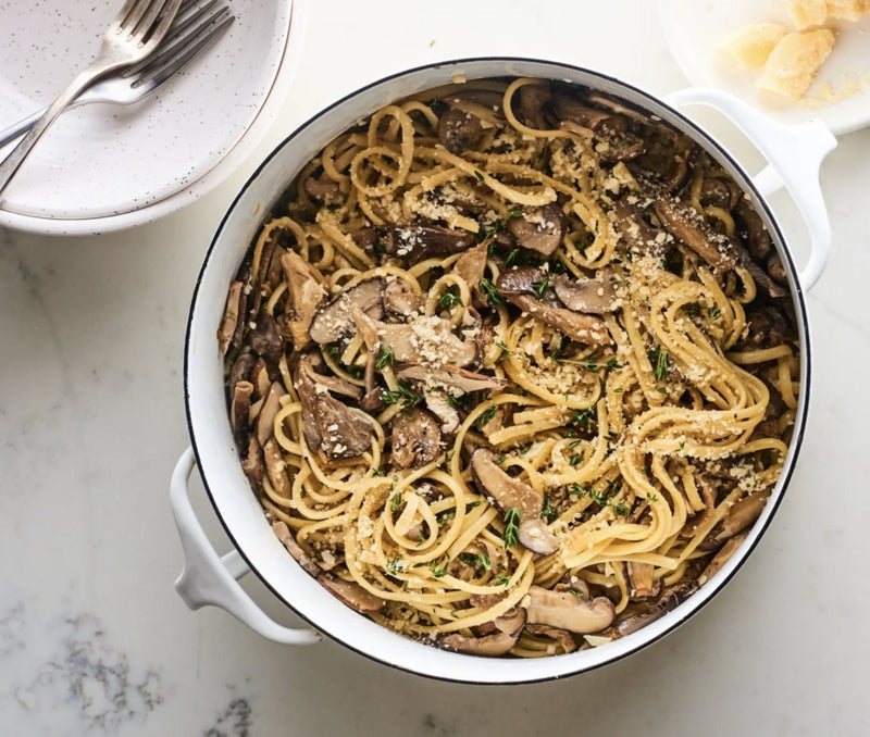 Creamy Wild Mushroom One-Pot Pasta | Grocer Collective