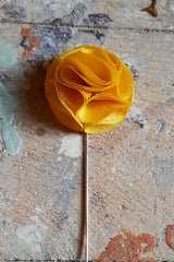 Fabric Rose Lapel Pin