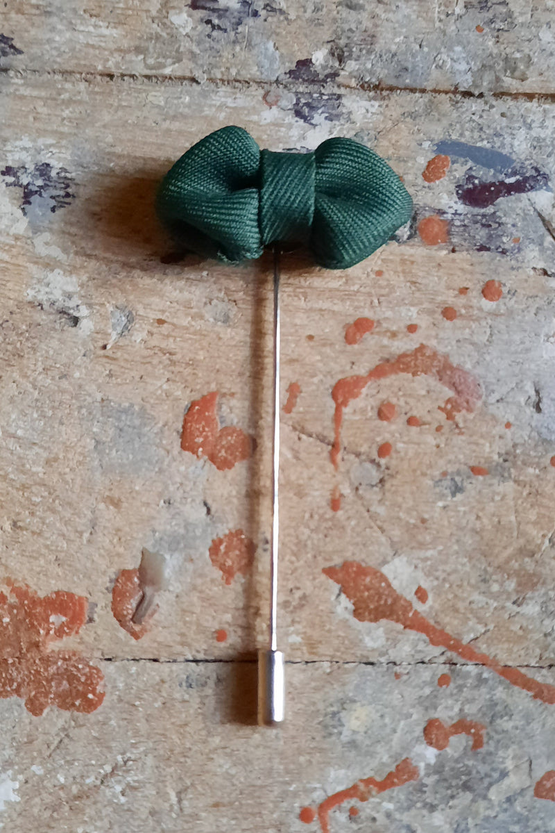 Fabric Bow Lapel Pin