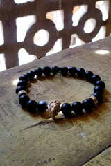 Lion Head Bracelet With Tribal Stoppers