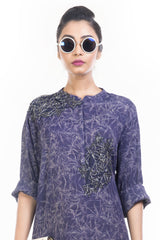 Midnight Bug Mesh Print Shift