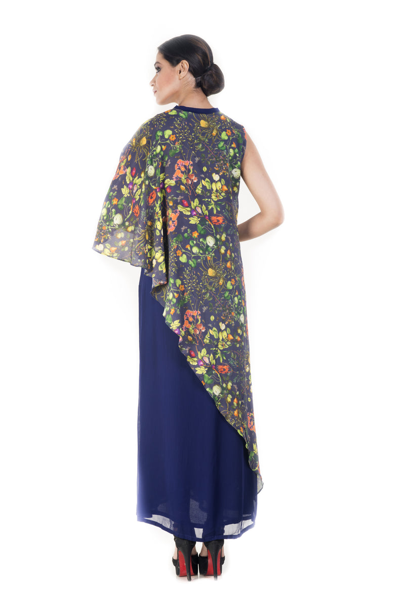 Cape Style Printed Long Tunic