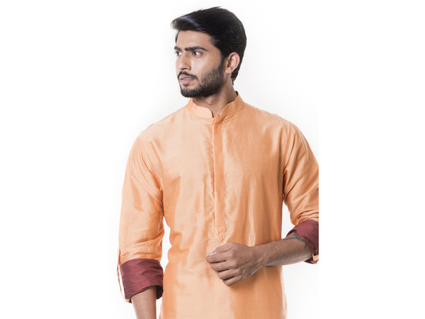 Peach Pathani Set