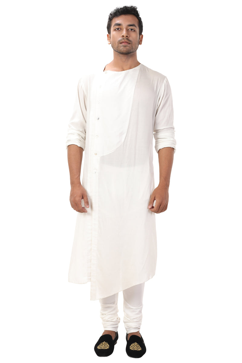 Asymmetrical Front Slit Kurta Set