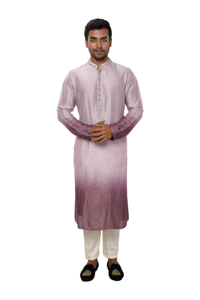 Hand Embroidered Ombre Shaded Kurta Set