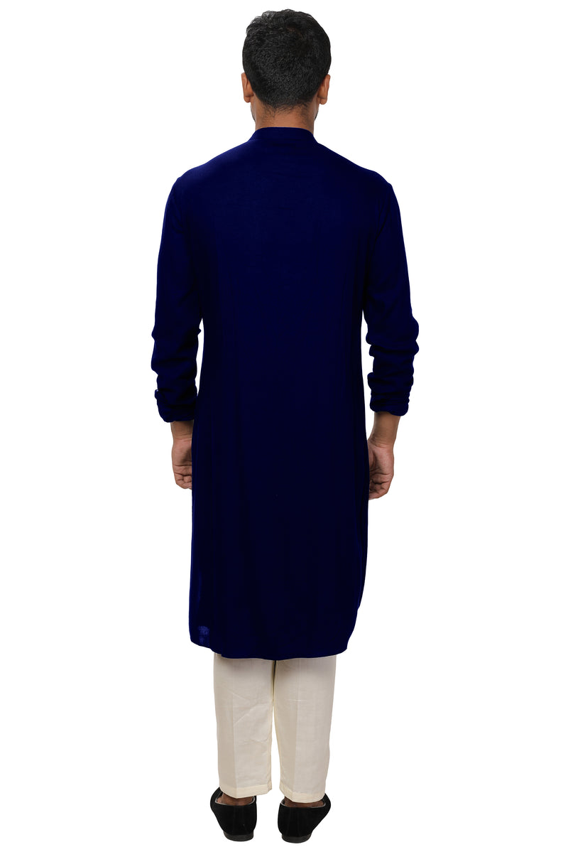 Asymmetrical Front Draped Kurta Set
