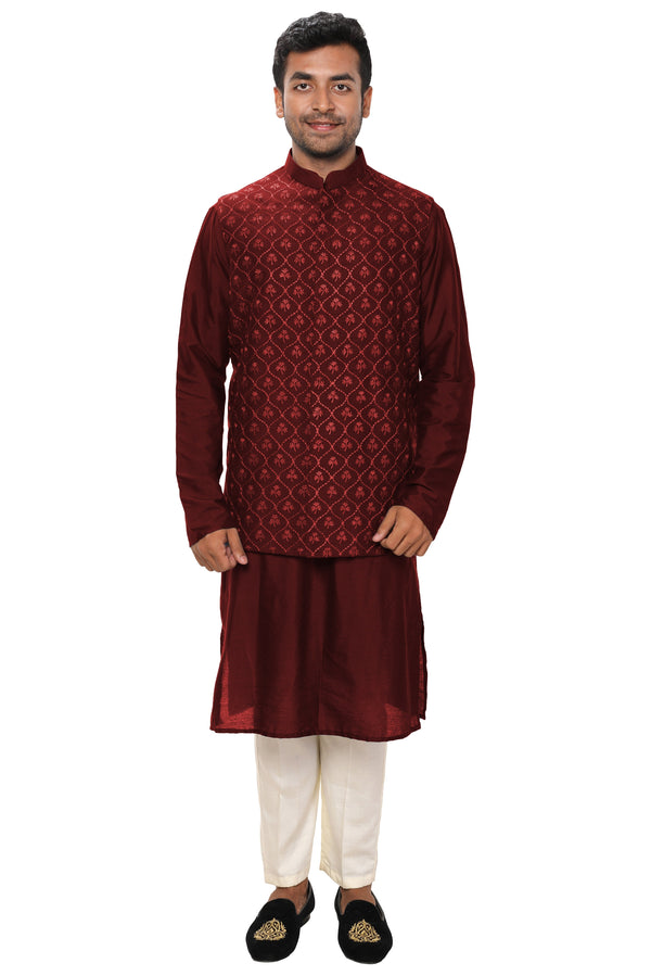 Kurta Set paired with a Heavy Embroidered Jacket