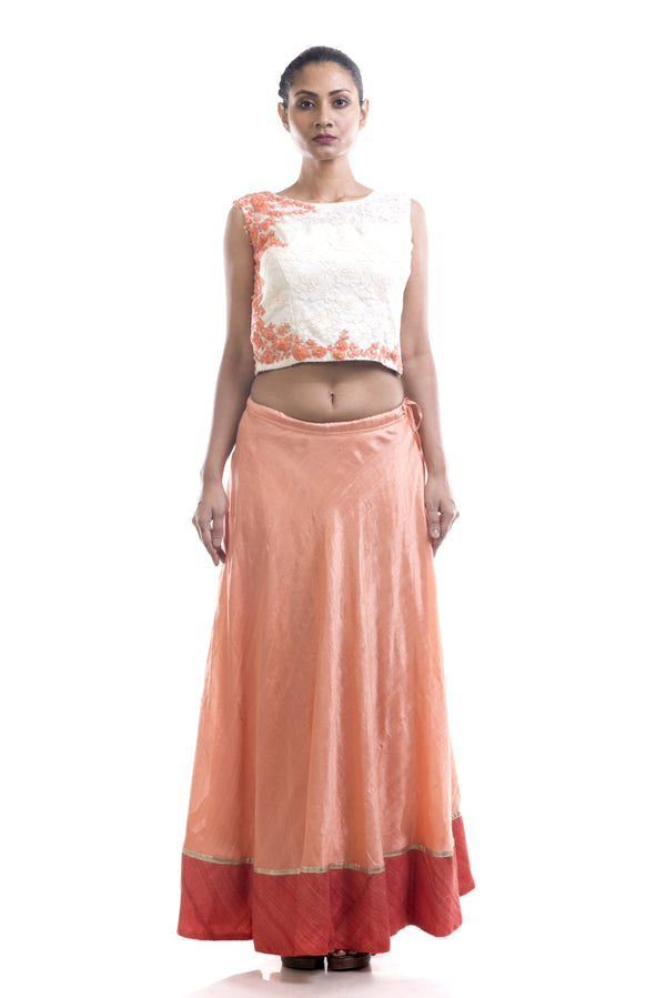 Chantilly Lace Crop Top & Skirt Set