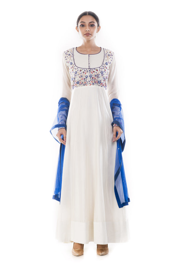 Ivory Anarkali Suit Set