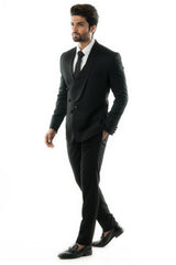 True Black Two Piece Suit