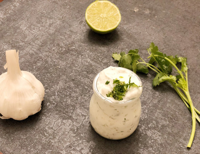 Garlic-Cilantro Greek sauce
