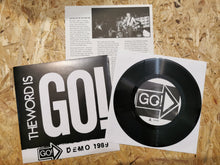 "Load image into Gallery viewer, Go! ""The Word Is Go!"" Demo 1989 7"""