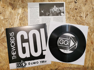 "Go! ""The Word Is Go!"" Demo 1989 7"""