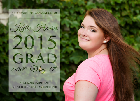 Card Template: 4x5.5 Kylie Grad