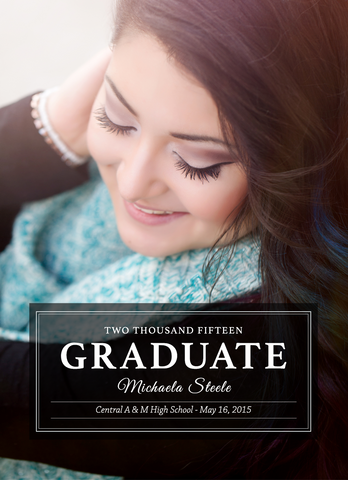 Card Template: 4x5.5 Michaela Grad
