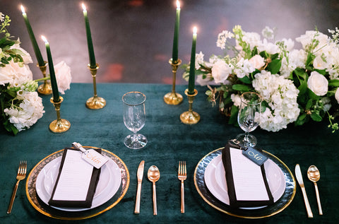 Emerald & White Wedding Colors