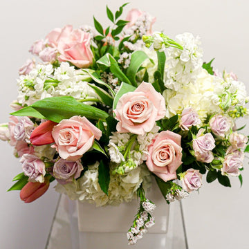 Sweet as Honey - Florist Design in White + Blush | Local Arrangements - Lizzie Bee's Flower Shoppe