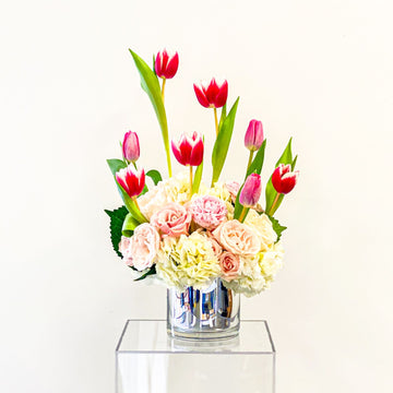 Adoring Adelaide - Valentine's Day Arrangement in Bold Pinks + Ivory