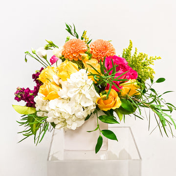 BEE Bold - Florist Design in Bright Tones | Fresh Arrangement - Lizzie Bee's Flower Shoppe