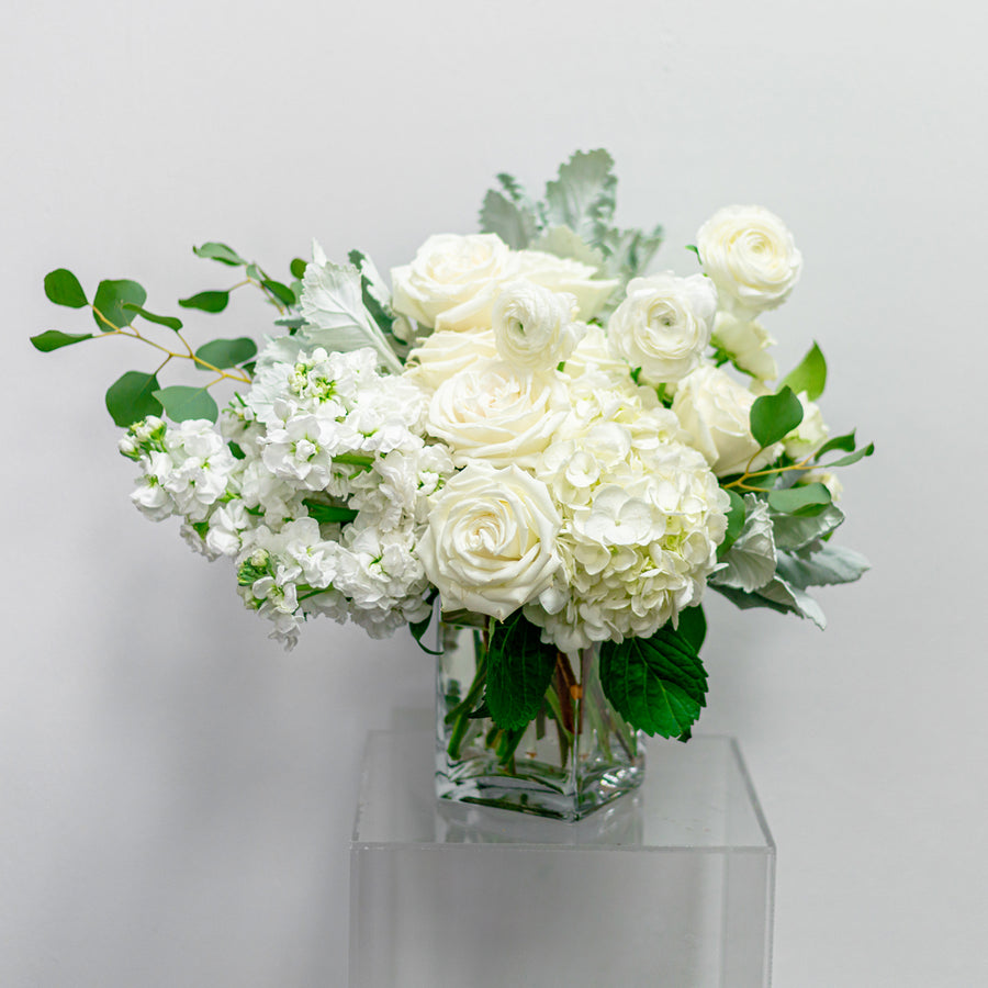Sweet Memories - Florist Design in All-White Blooms | Local Arrangements - Lizzie Bee's Flower Shoppe