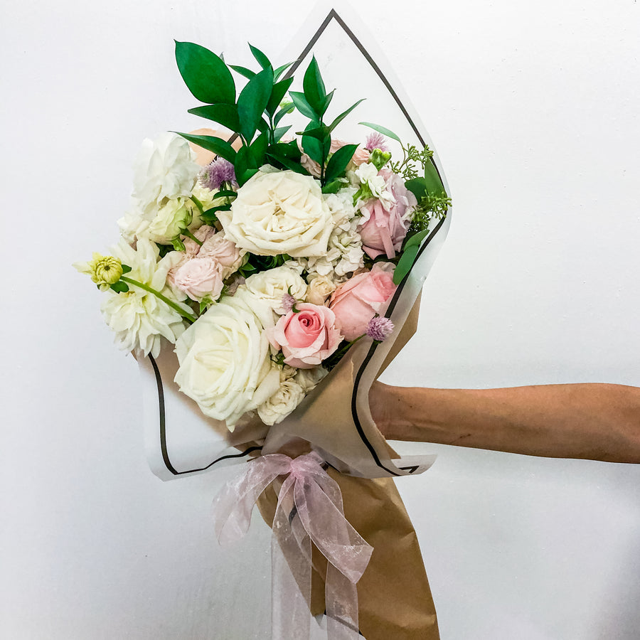 Wrapped Seasonal Bouquets | Fresh Arrangement - Lizzie Bee's Flower Shoppe