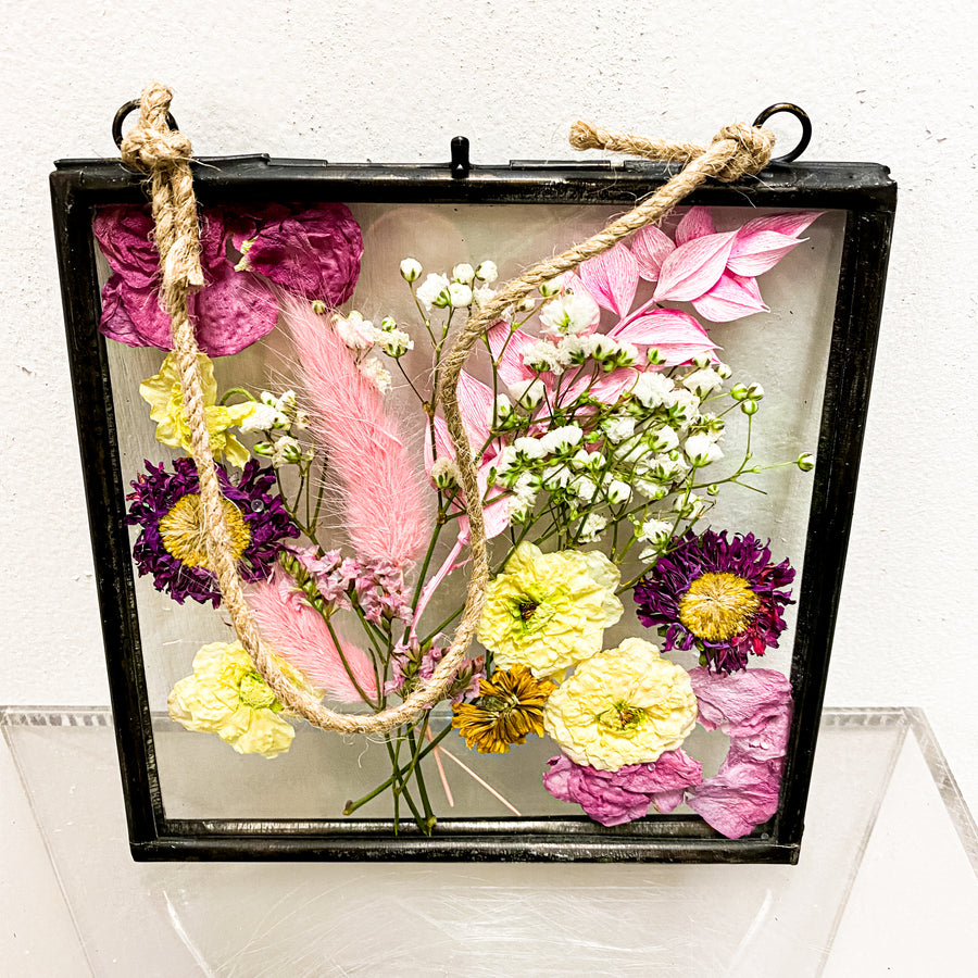 Pressed Flowers in Hanging Frame | Decor - Lizzie Bee's Flower Shoppe