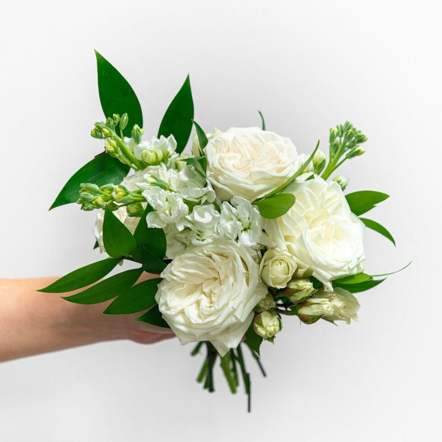 White and Green | Nosegay, Petite Bouquet | HexBee - Lizzie Bee's Flower Shoppe
