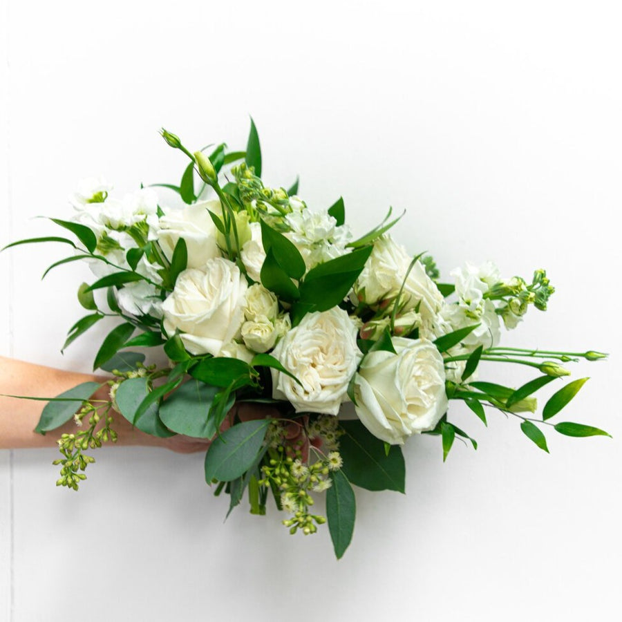 White and Green | Bridesmaid Bouquet | HexBee - Lizzie Bee's Flower Shoppe